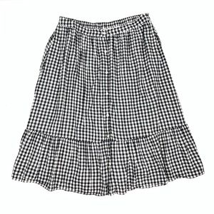 OLD NAVY Gingham Button Front Skater/Flare Skirt